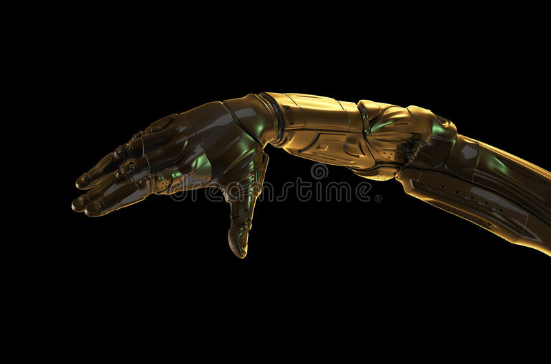 Download Futuristic hand stock illustration. Image of human, part - 22419318