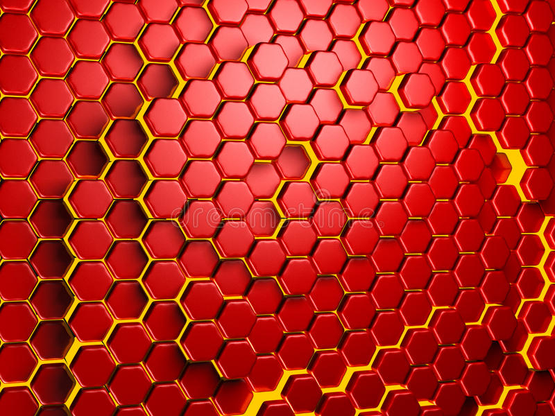Futuristic Hi-Tech Backgroun. Hexagon Pattern stock photo