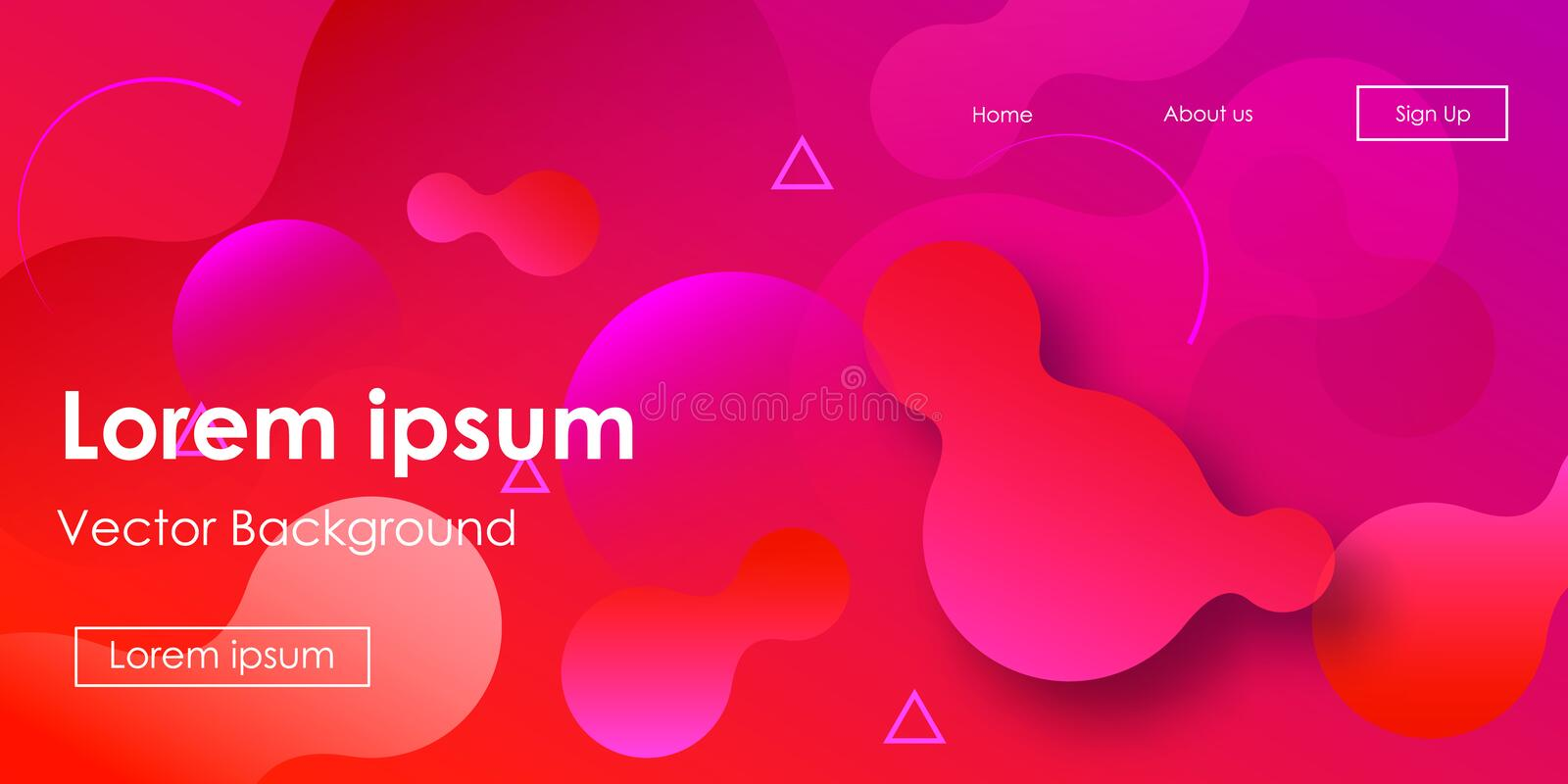 Futuristic Horizontal Vector Gradient Neon Background royalty free illustration