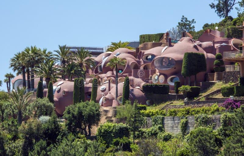 Futuristic House Design - French Riviera Editorial Photo