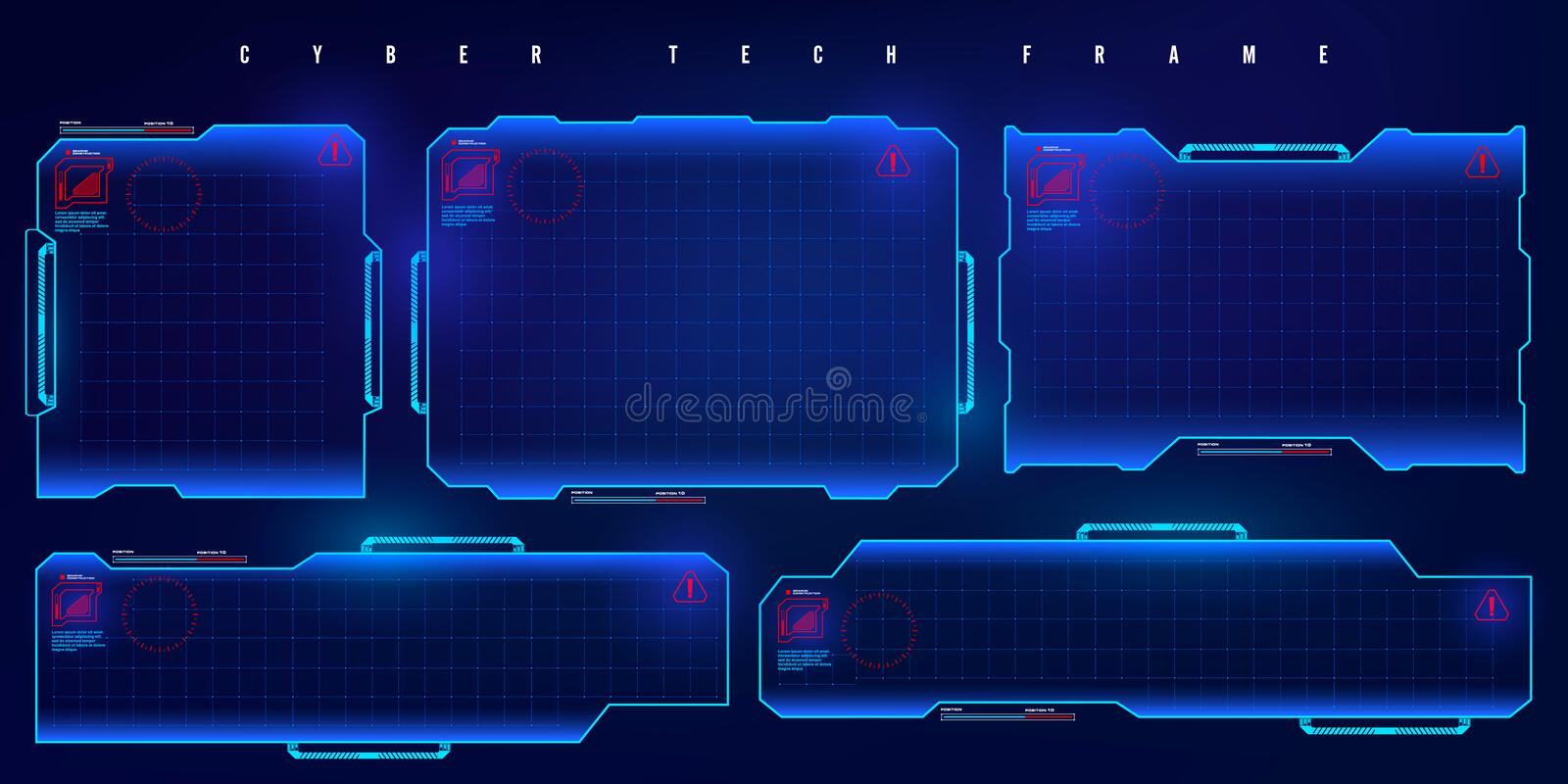 futuristic hud set frame futuristic virtual screen frame cyber tech frame stock vector illustration of screen board 160175854 futuristic hud set frame futuristic