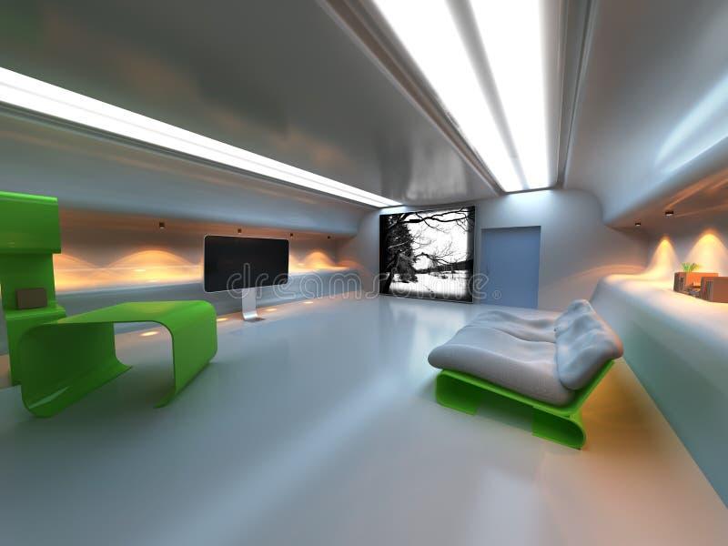 futuristic inre modernt vektor illustrationer