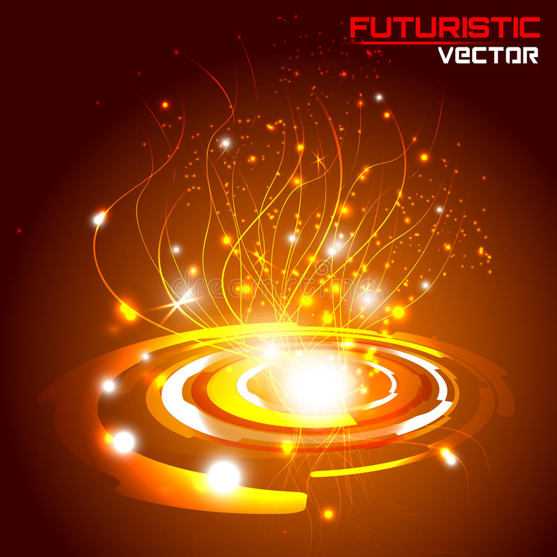 Futuristic interface background HUD, vector. Illustration of Futuristic interface background HUD, vector stock illustration