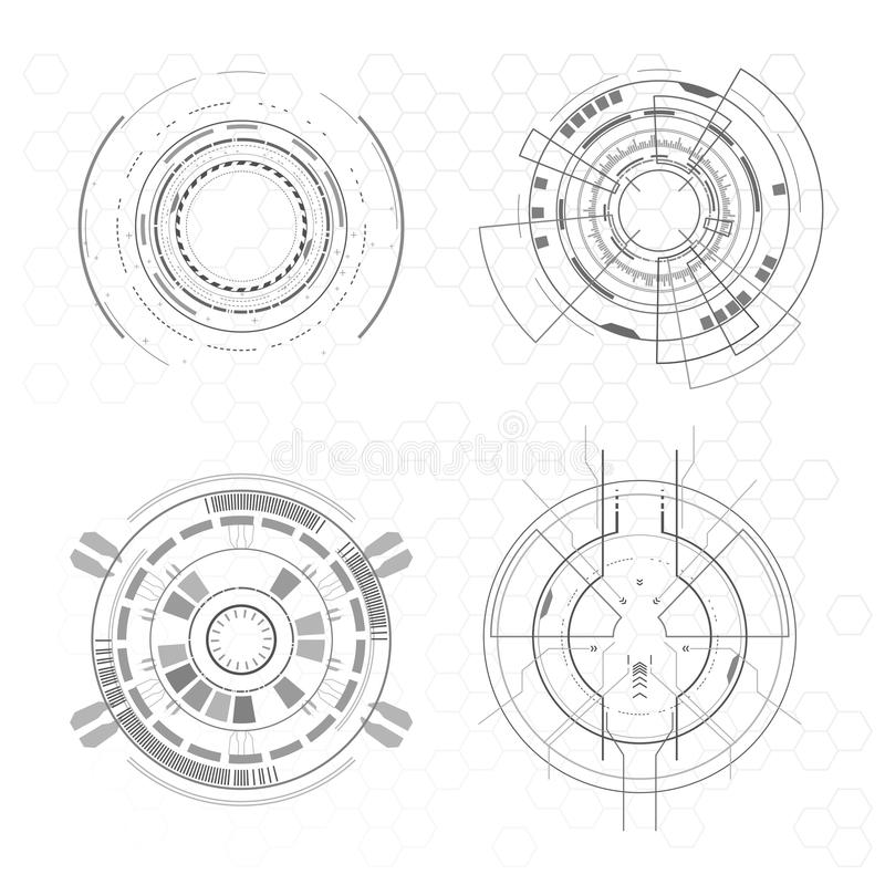 Futuristic interface elements. In vector royalty free illustration