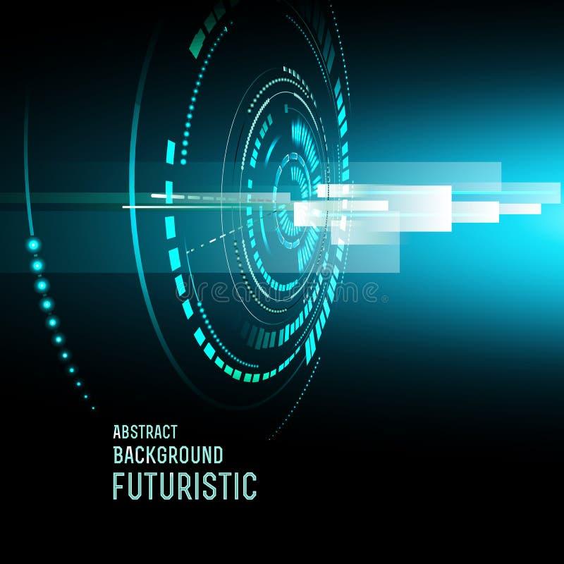 Futuristic interface, HUD, background. Illustration of Futuristic interface, technology , sci-fi background vector illustration