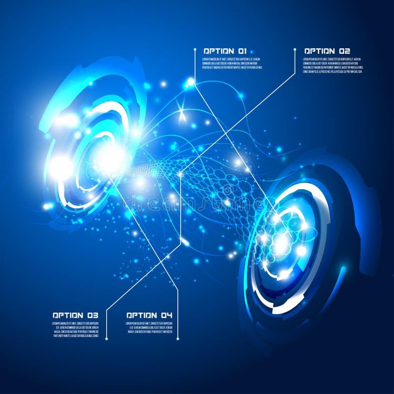 Futuristic interface, HUD, imfographics ,. Illustration of Futuristic interface,imfographic for technology , sci-fi background royalty free illustration