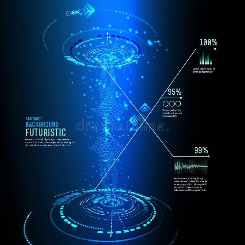 Futuristic interface, HUD, imfographics ,. Illustration of Futuristic interface, technology , sci-fi background royalty free illustration