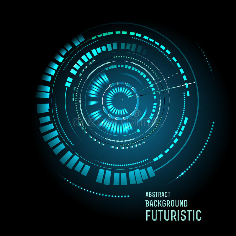 Futuristic interface, HUD, sci-fi. Illustration of Futuristic interface, HUD, sci-fi background vector illustration