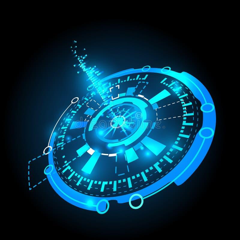 Futuristic interface, HUD, vector background. Vector illustration of Futuristic interface HUD, background stock illustration