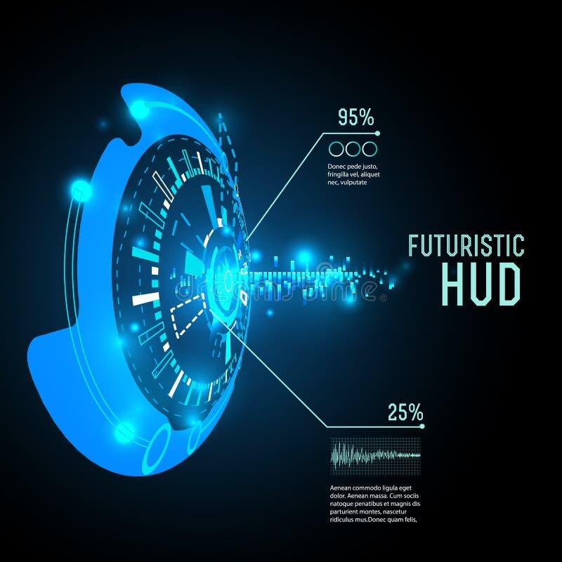 Futuristic interface infographics, HUD, vector background. Vector illustration of Futuristic interface infographics, HUD, vector background royalty free illustration