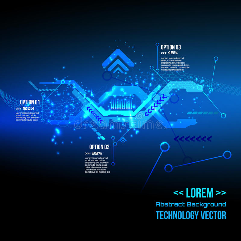 Futuristic interface infographics,Technology digital background, DNA, Vector.  vector illustration