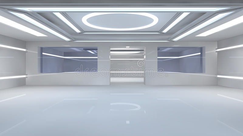 Download Futuristic Interior Royalty Free Stock Images - Image: 32075759