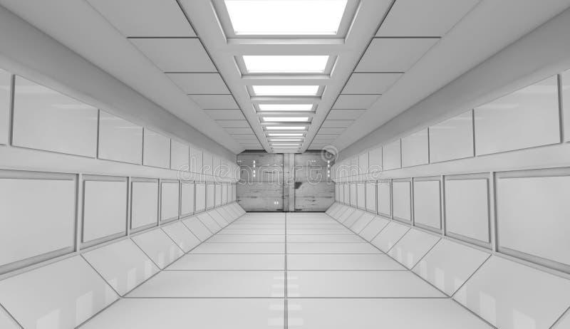 Download Futuristic interior stock illustration. Illustration of poster - 32075784
