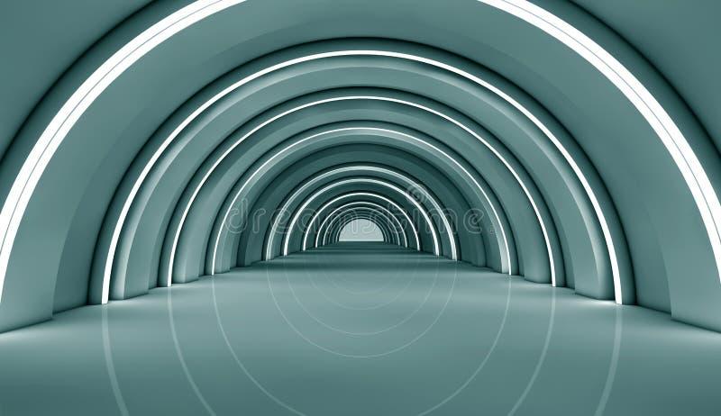 Download Futuristic interior stock illustration. Illustration of decor - 32075798