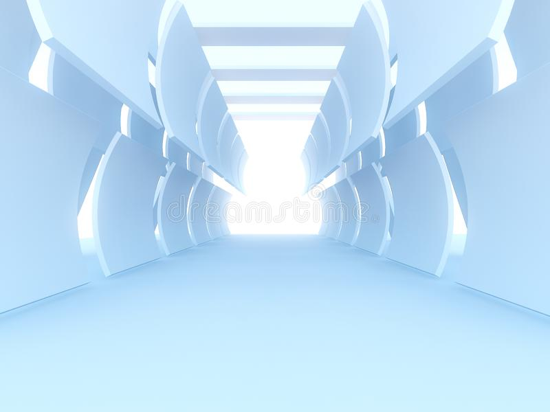 Futuristic Interior decorate white abstract Curve stock illustration