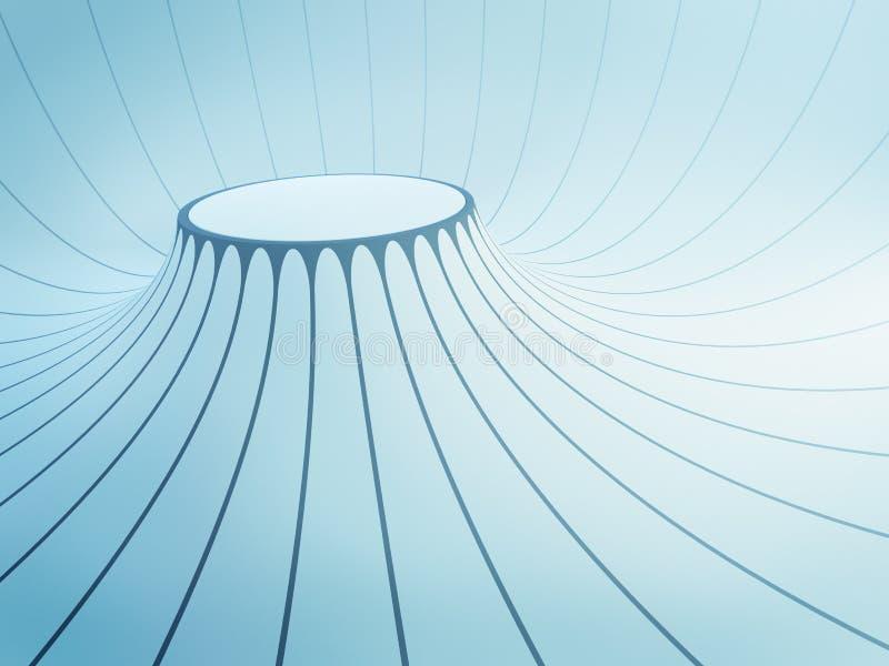 Download Futuristic interior space stock illustration. Illustration of geometric - 24924118