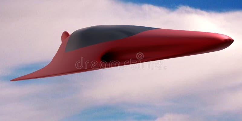 Futuristic jet royalty free stock image