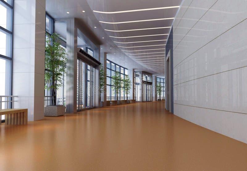 futuristic korridor 3d royaltyfri illustrationer