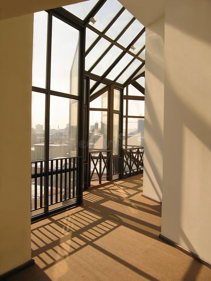 futuristic korridor royaltyfri foto