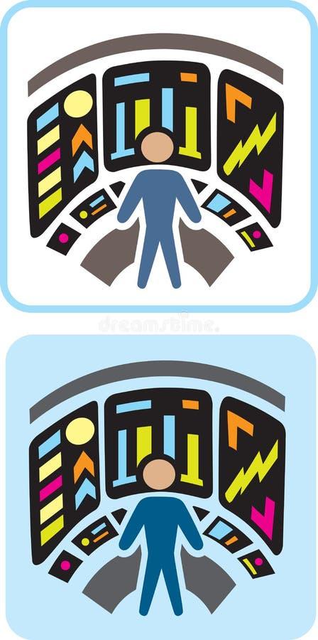Futuristic Laboratory Icon Royalty Free Stock Image
