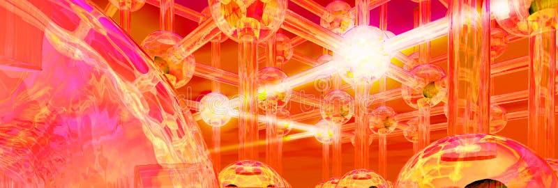 Download Futuristic Light Beam Conceptual Structure Stock Illustration - Illustration: 14568527