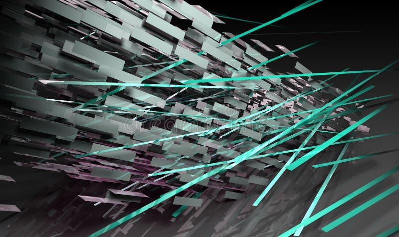 futuristic linjer stock illustrationer
