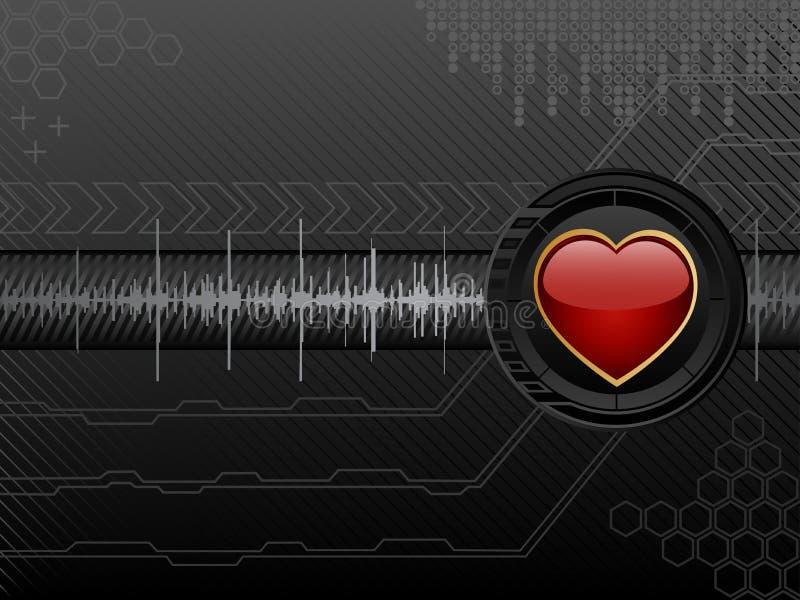 Futuristic Love Background Royalty Free Stock Photos