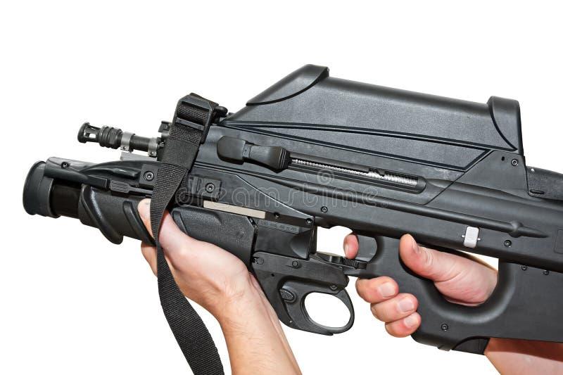 futuristic machine pistol