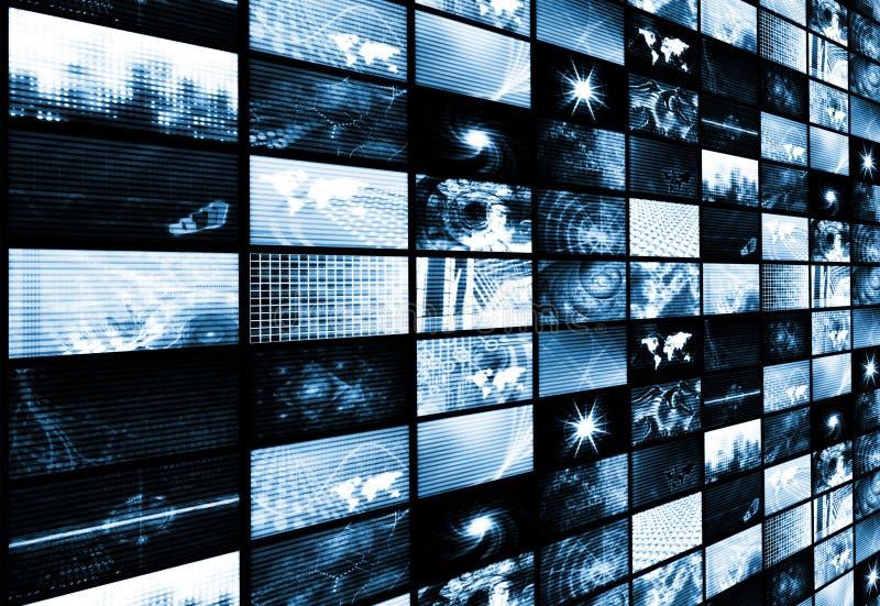 Futuristic Media Abstract Background stock illustration