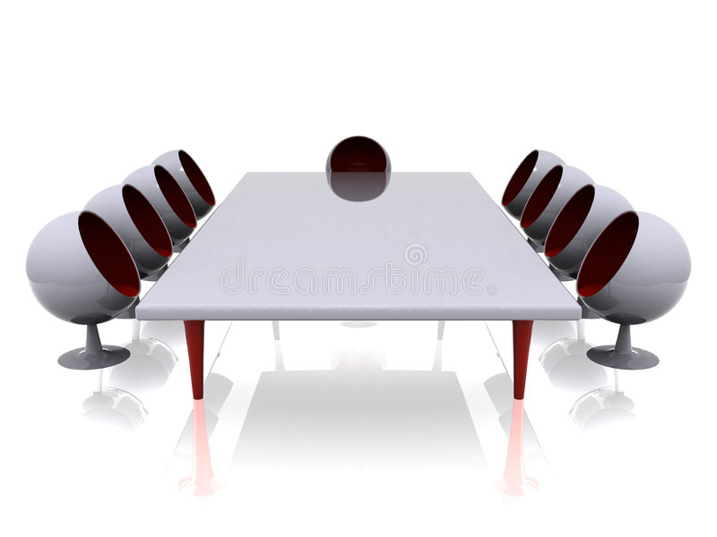 Download Futuristic meeting room stock illustration. Illustration of conference - 2392369