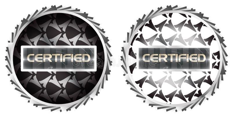 Download Futuristic Metallic Certified Stamp Symbol Sticker Stock Vector - Illustration: 23394656