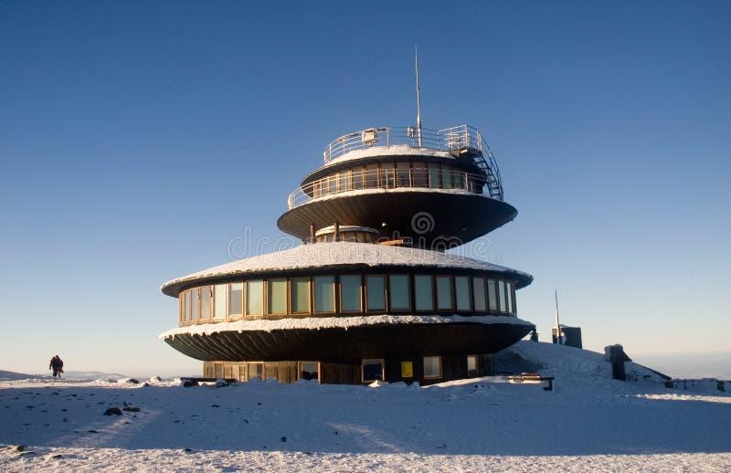 futuristic meteorological station royaltyfri bild