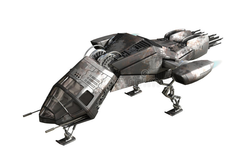 Download Futuristic Military Drone For Fantasy Games Stock Illustration