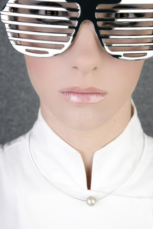 Download Futuristic Modern Businesswoman Steel Glasses Stock Image - Image: 14061349