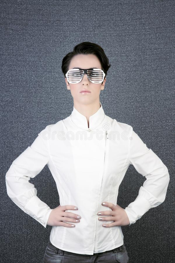 Download Futuristic Modern Businesswoman Steel Glasses Stock Photography - Image: 14886962