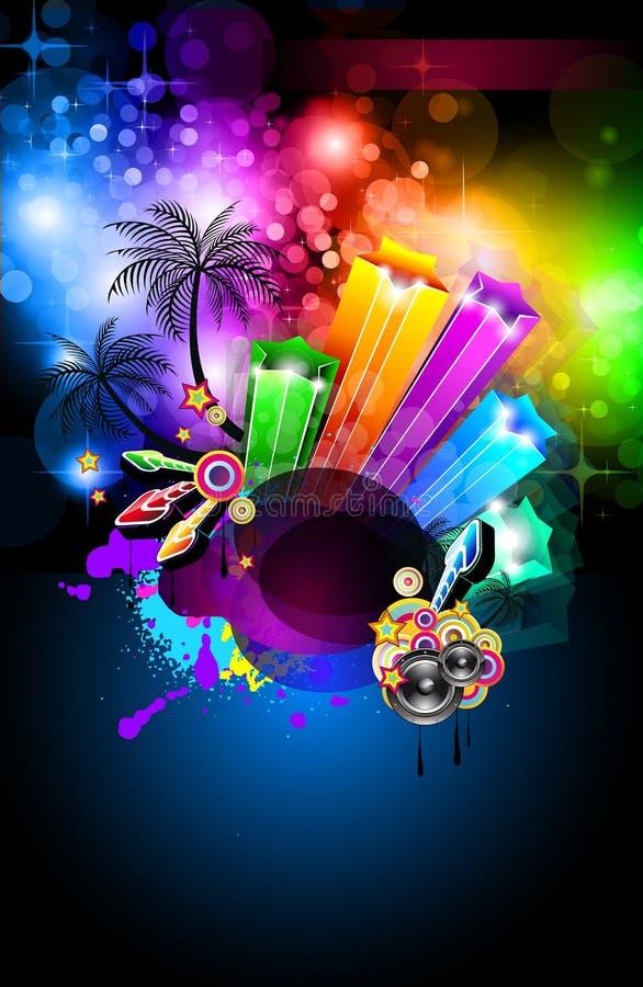 Futuristic Music Disco Background vector illustration