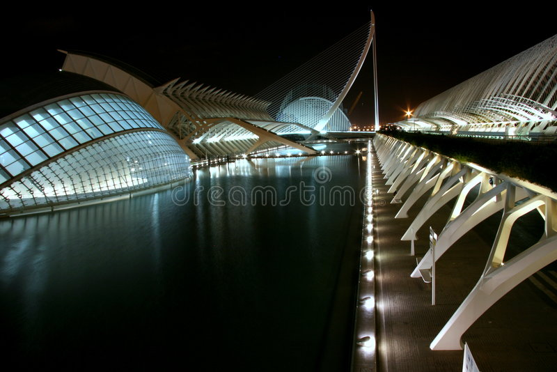 Futuristic night royalty free stock photo