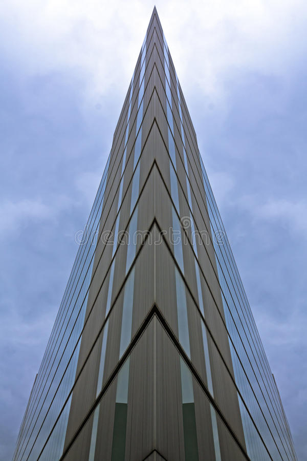 Futuristic Office Building. Mirrored Futuristic Office Building in London royalty free stock image