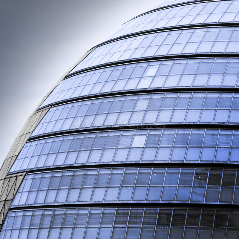 Futuristic Office Building. Modern Glass Architecture in City of London, UK stock images