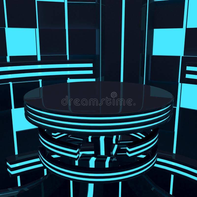 futuristic plattform stock illustrationer