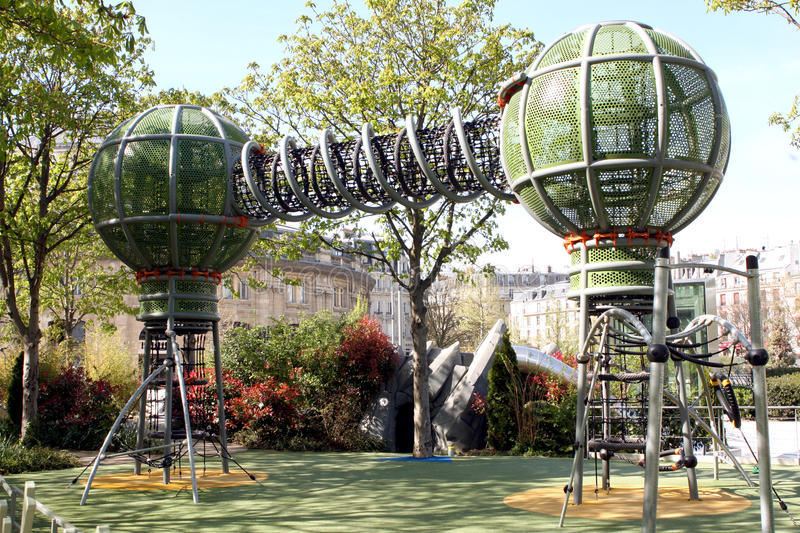 Futuristic play ground - Paris. Futuristic children play ground in Paris in France royalty free stock image