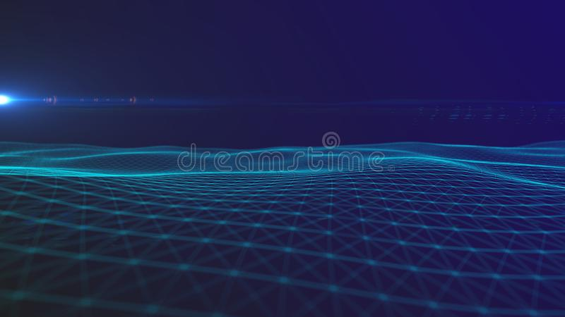 Digital  background Abstract polygonal space background with connecting lines Connection structure.HUD  Science background. stock illustration