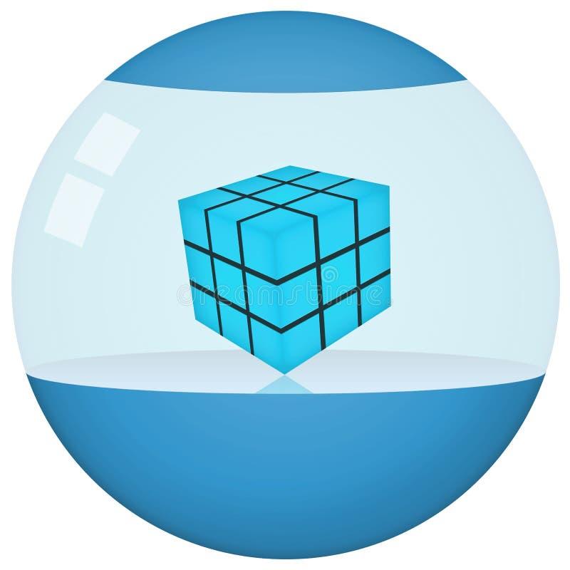 futuristic produktsphere för blå behållare arkivbilder