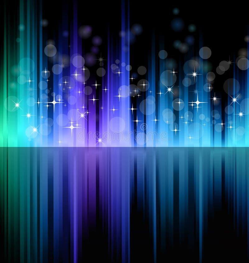 Futuristic Rainbow Lights Background royalty free illustration