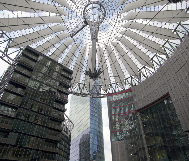 Download Futuristic Roof At Sony Center, Potsdamer Platz, Berlin, Germany. Stock Image - Image: 30992563