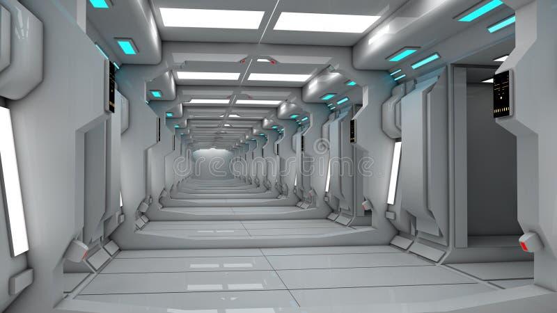 Futuristic SCIFI interior stock illustration