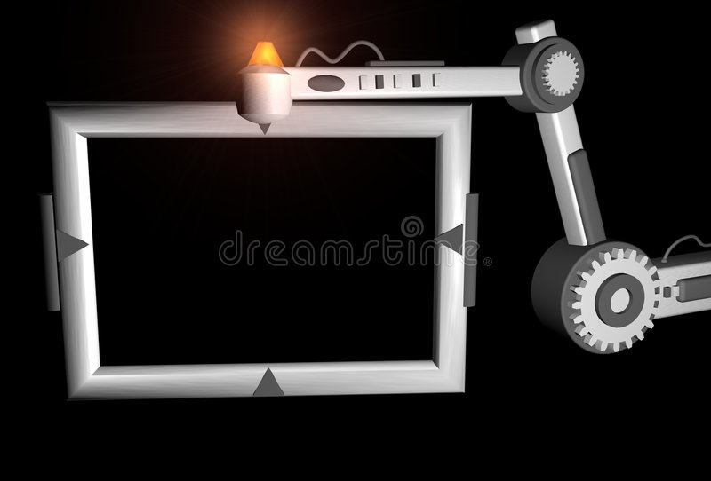 Futuristic screen royalty free illustration