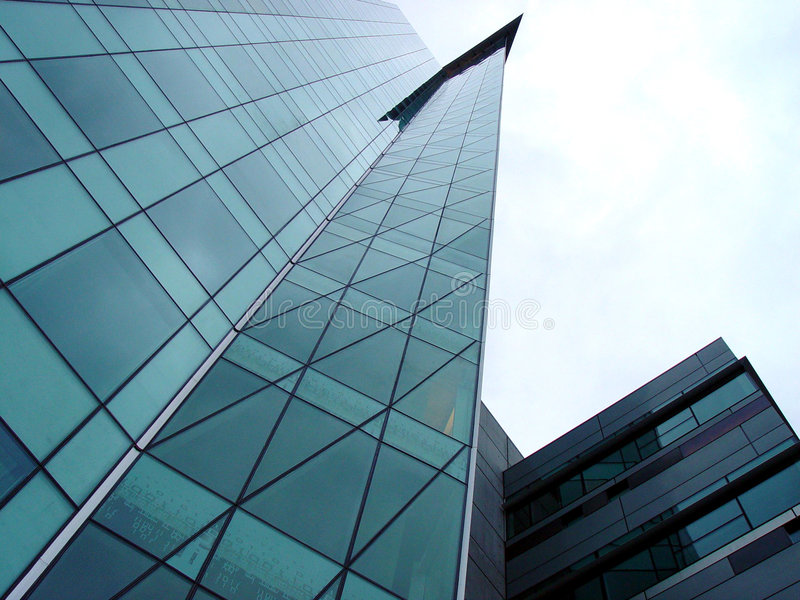 futuristic skyskrapa fotografering för bildbyråer