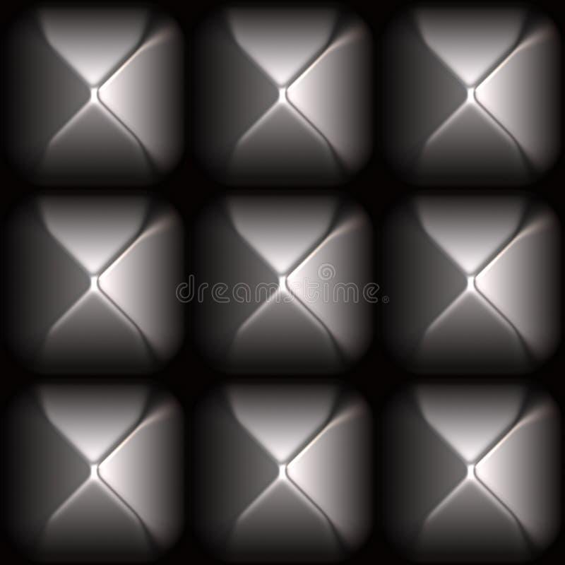 Download Futuristic Sleek Metal Stud Grid Stock Illustration - Illustration: 7783732