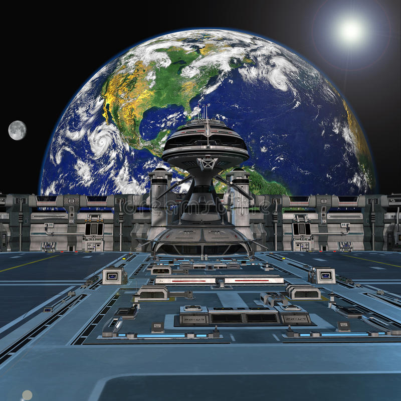 Futuristic Space Station Stock Images